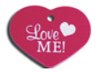 ID Tag - Large Love Me Heart