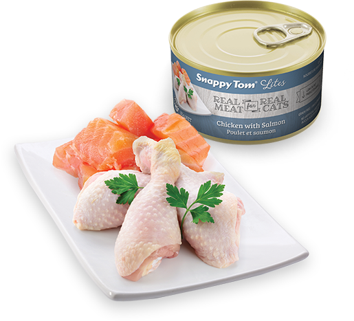 Snappy Tom - Lites Canned Cat Food - Chicken with Salmon 3oz