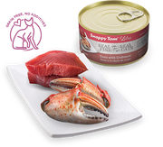 Snappy Tom - Lites Canned Cat Food - Tuna with Crab