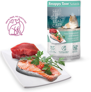 Snappy Tom -Naturals Cat Pouches - Tuna Temptation with Salmon 100g