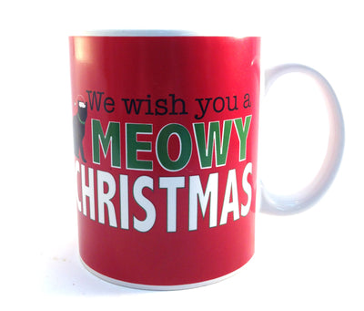 Christmas Mug - We Wish You A Meowy Christmas