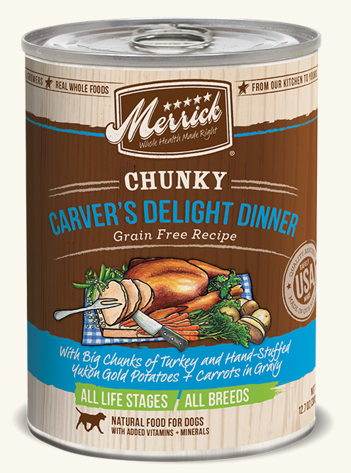 Merrick Canned Dog Food - Carver's Delight Dinner