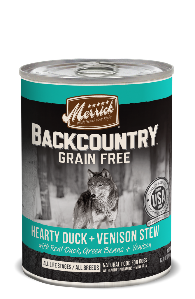Merrick - Back Country - Hearty Duck & Venison Stew - SALE