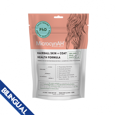MicrocynAH® Hairball Skin + Coat Health Formula for Cats 120 GM