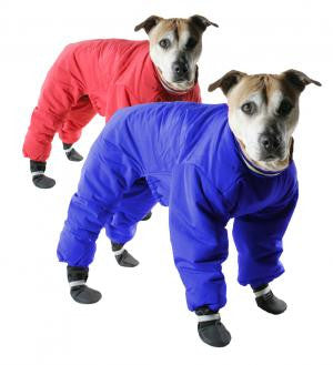 Muttluks Reversible Snowsuit Blue/Red Full Length SALE 40% OFF