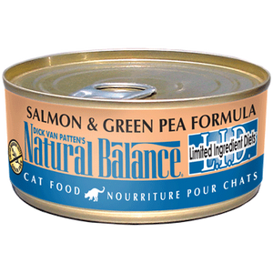 Natural Balance salmon and green pea cat can