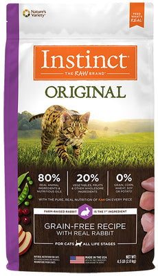 Nature's Variety Instinct Original Grain Free with Real Rabbit Formula For Cats