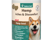 NaturVet Hemp- Aches & Discomfort For Dogs