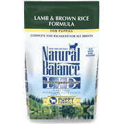 Natural Balance - Lamb & Brown Rice Formula for Puppies