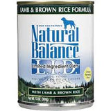 Natural Balance Lamb & Brown Rice Canned Dog Food