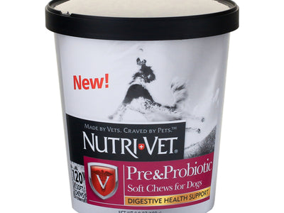 Nutri-Vet® Pre and Probiotic Soft Chews For Dogs 120 chews
