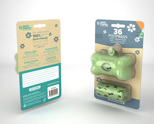 Earth Friendly Poop Bag With Dispenser with 36 Bags - SALE