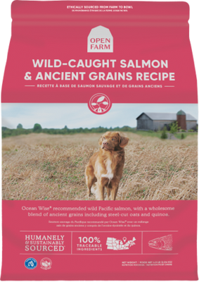 Open Farm- Wild-Caught Salmon & Ancient Grains Recipe- Dry Dog Food