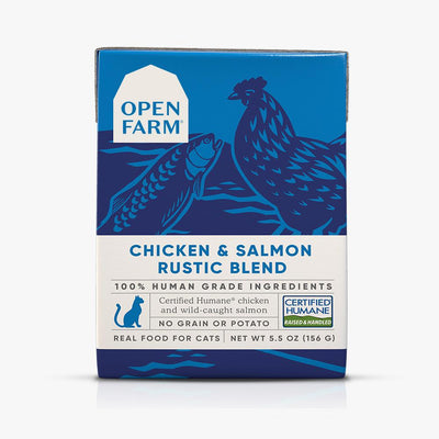 Open Farm Chicken & Salmon Rustic Blend cat food 5.5 oz