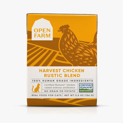 Open Farm Harvest Chicken Rustic Blend cat food 5.5 oz
