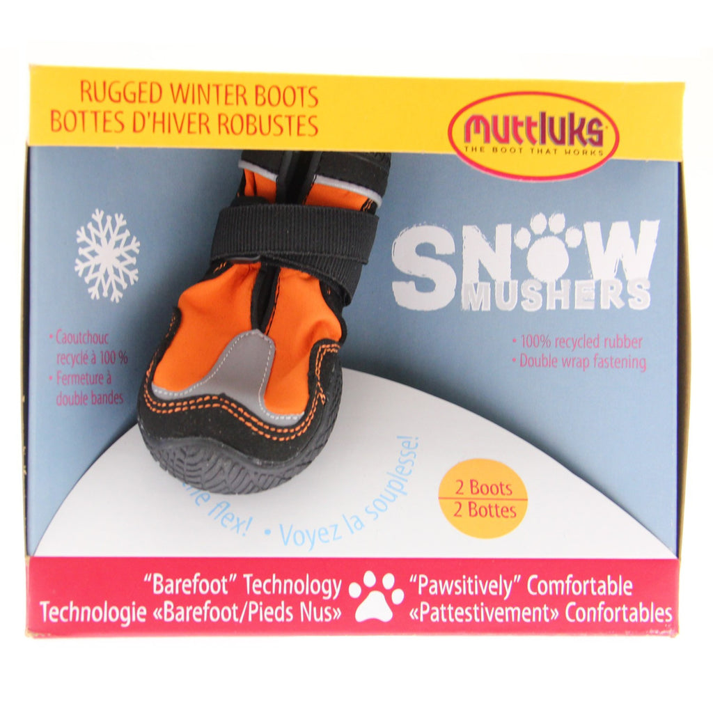 Muttluks Snow Musher Dog Boots - Orange SALE 25% OFF!!!!!!