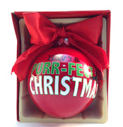 Christmas Ball Ornament - Have A Purr-fect Christmas