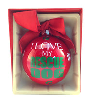 Christmas Ball Ornament - I Love My Rescue Dog