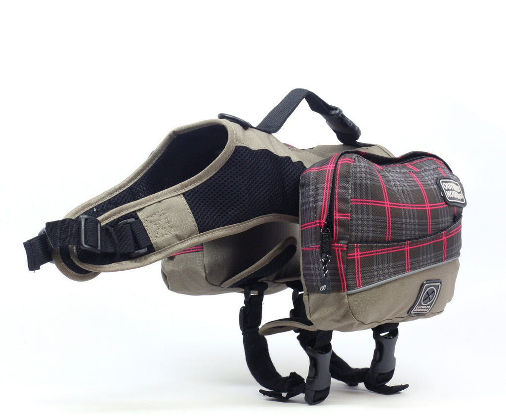 Outward Hound - Excursion Back Pack Pink Plaid SALE