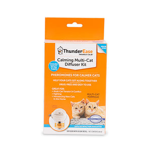 thunderease calming multi cat diffuser kit