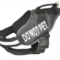 """Do Not Pet"" Removable Velcro Patch - S/M"