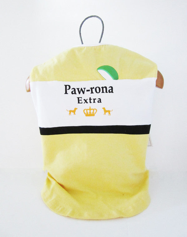 Fetchwear Summer T Shirt - Paw-rona Extra Yellow SALE