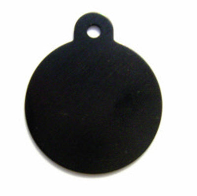 ID Tag - Large Black Circle