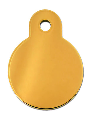 ID Tag - Large Gold Circle