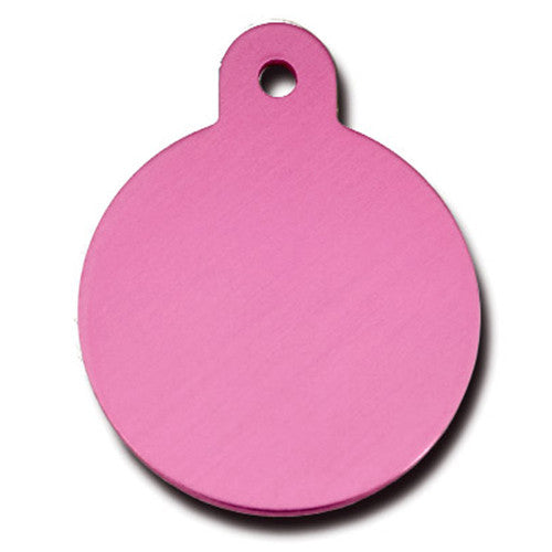 ID Tag - Large Pink Circle