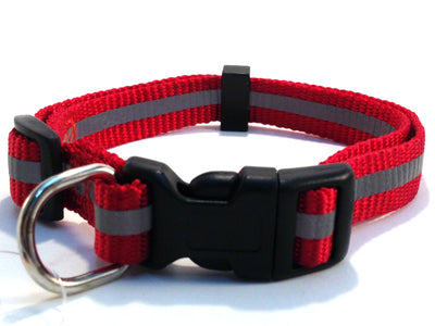 Pet Pro Adjustable Reflective Collar - Red