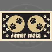 Pet Rebellion Dinner Mate Black