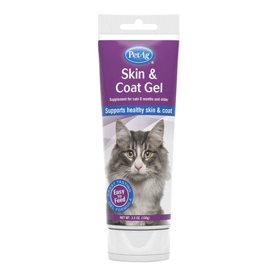 PetAg Skin & Coat Gel Supplement for Cats - 3.5 oz