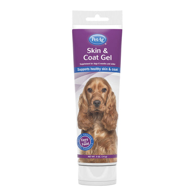 PetAg Skin & Coat Gel Supplement for Dogs - 5 oz