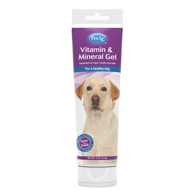 PetAg Vitamin & Mineral Gel Supplement for Dogs - 5 oz