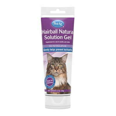 PetAg Hairball Natural Solution Gel Supplement for Cats - 3.5 oz