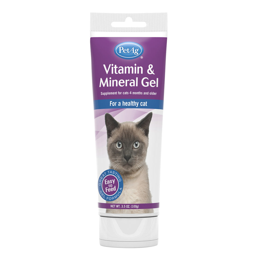 PetAg Vitamin & Mineral Gel Supplement for Cats - 3.5 oz