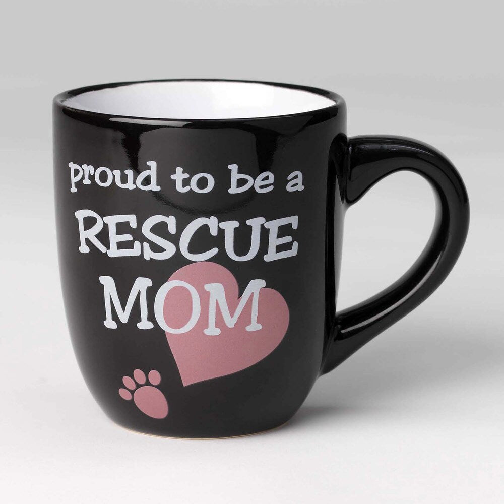 Petrageous- Lucky Paws- Prould To Be a Rescue Mom, Mug