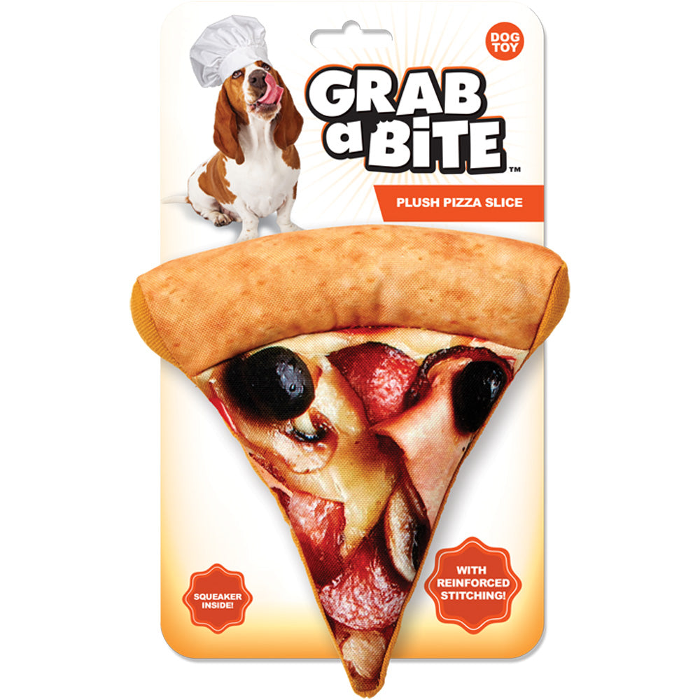 Jakks Grab a Bite Pizza Slice Dog Toy