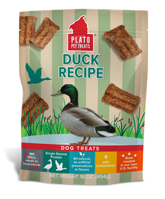 Plato Duck Recipe Strips Dog Treats 170g 6 oz