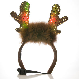 Plush Puppies LED Holiday Antlers