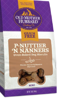 Old Mother Hubbard ® Grain Free P-Buttier N' Nanners Mini Dog Treat 16 oz
