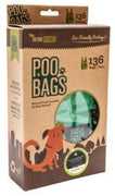 Define Planet Poo Bags T-Shirt Style Pack 136 Easy-Tie Handle Bags