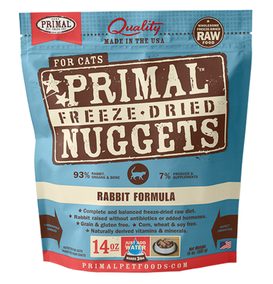 Primal Freeze Dried Rabbit Cat Food