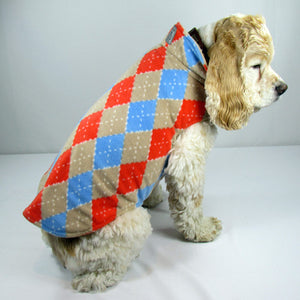 RC Pets - Winter Whistler Wear - Orange & Blue Plaid Size 20 - CLEARANCE