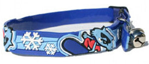 Kitty Rogz - Elastocat Cat Collars - Snowboard - Navy