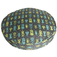 "Molly Mutt - Dog Bed Duvet - Round 36"" - Robots"