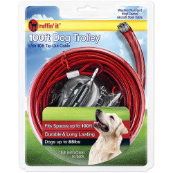 Ruffin It 50 ft Dog Trolley (dogs up to 100 lbs) SALE