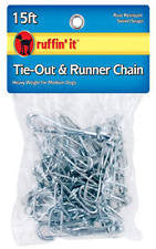 Ruffin It 15 ft Tie-Out & Runner Chain (extra heavy weight for large dogs) SALE