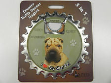 Bottle Ninja - 3 in 1 Coaster/Bottle Opener/ Magnet - Sharpei
