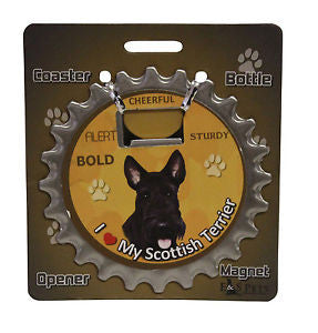 Bottle Ninja - 3 in 1 Coaster/Bottle Opener/ Magnet - Scottie SALE